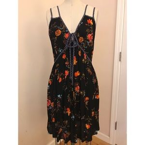 NWT Floral Sundress with double strap detail